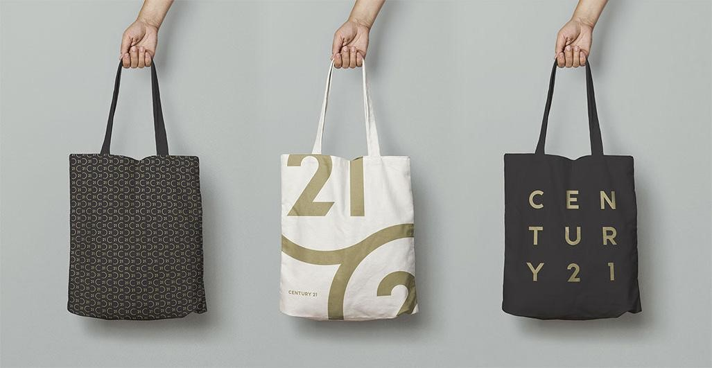 Century 21 tote bags