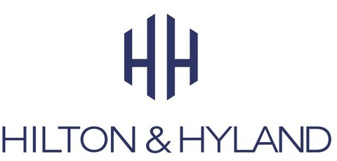 Hilton & Hyland logo stacked with their wordmark