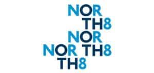 North 8 logos