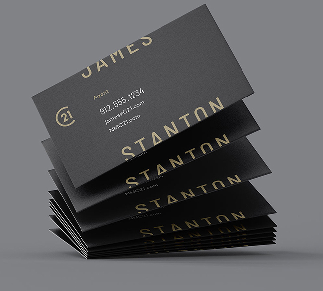 Business Cards - Century 21 Rebrand: A New Gold Standard for the Bitcoin Era?
