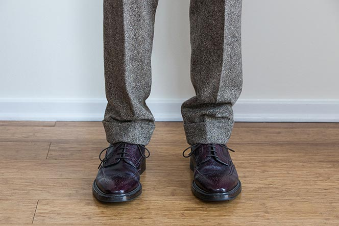 A-Full-Break-on-Slacks-Suit-Pants-or-Chinos-27 Things Male Realtors Should Never, Ever, Wear to Work