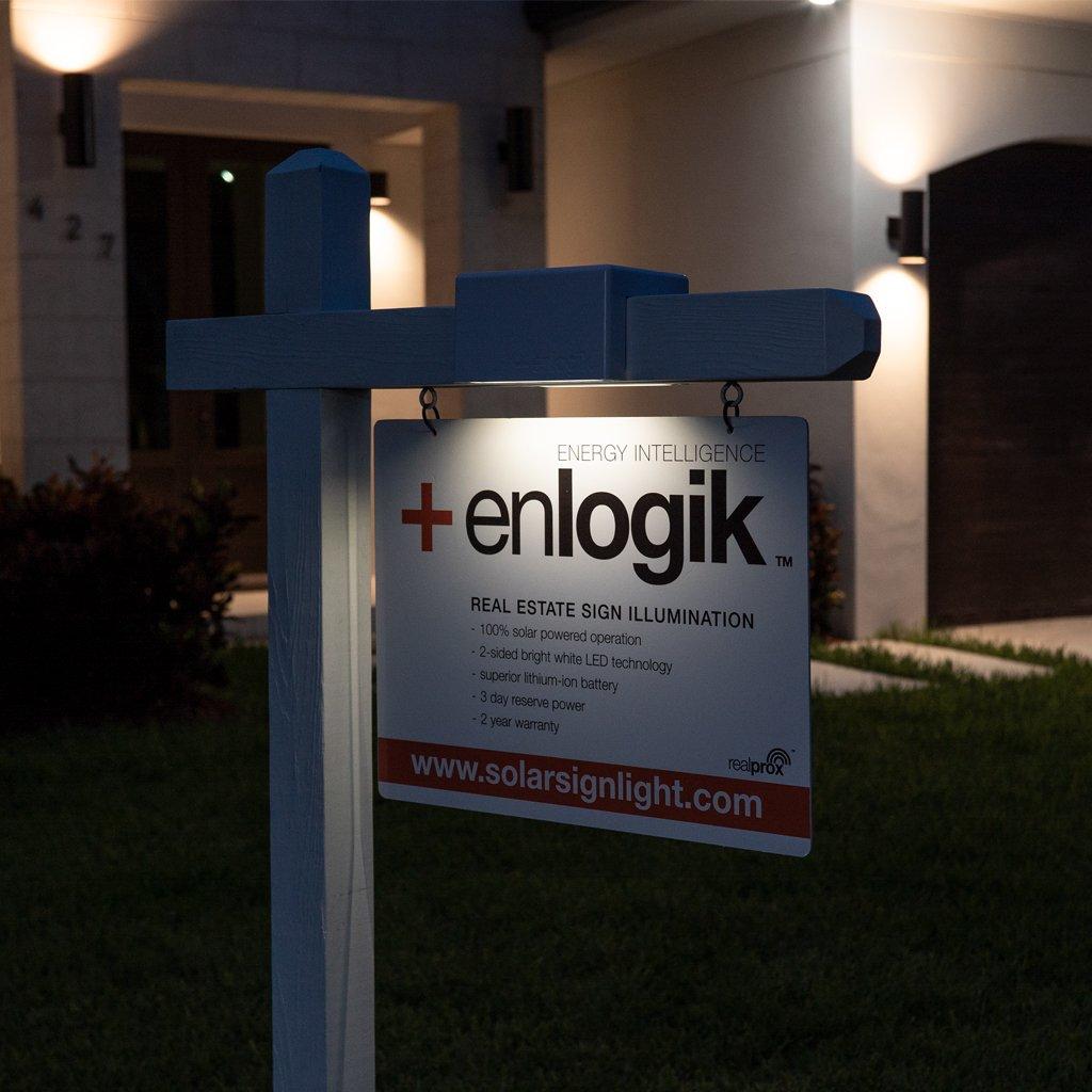 real estate yard sign lighting