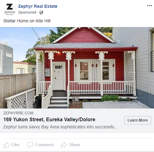 Zephyr Real Estate: Listing ad