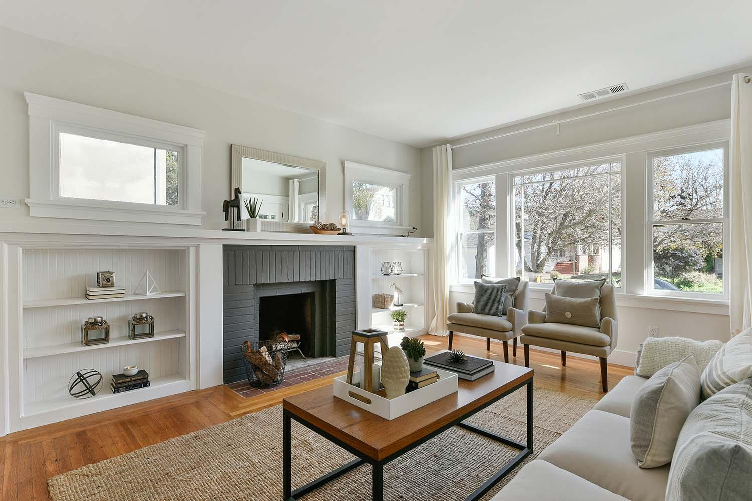 Berkeley Craftsman living room