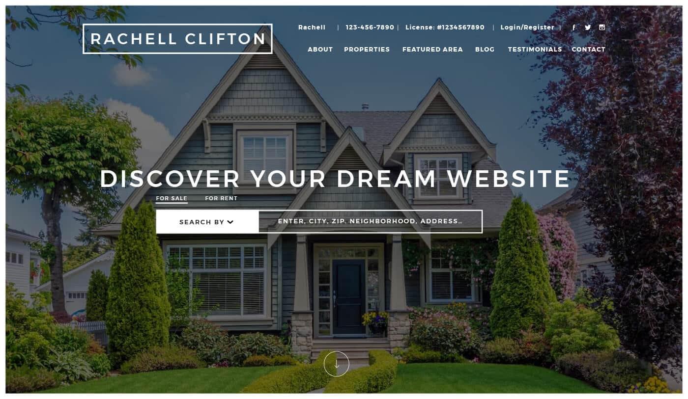 Placester real estate agent website