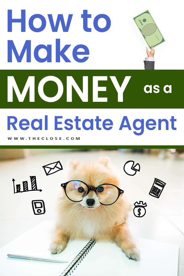 How to make money as a real estate agent pin