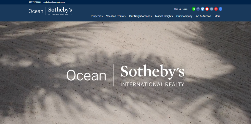 Ocean Sotheby's website