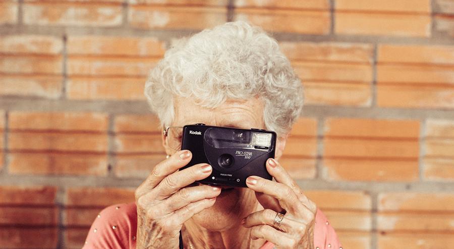 Granny taking picture