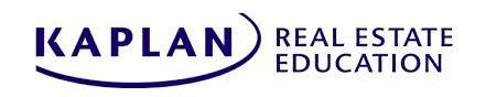 Kaplan Real Estate - real estate practice exam