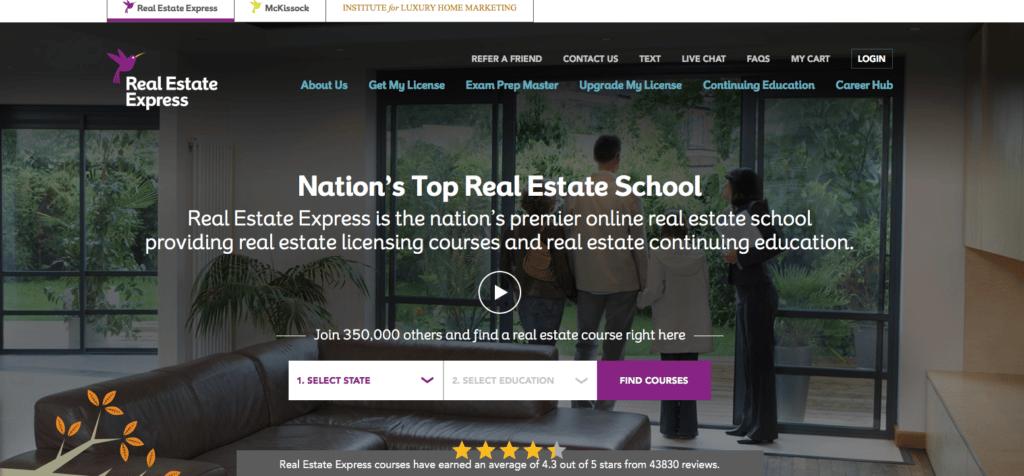 Real Estate Express Landing Page