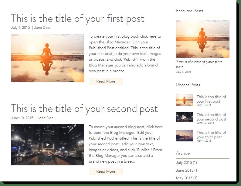 Wix as a Blogging Platform