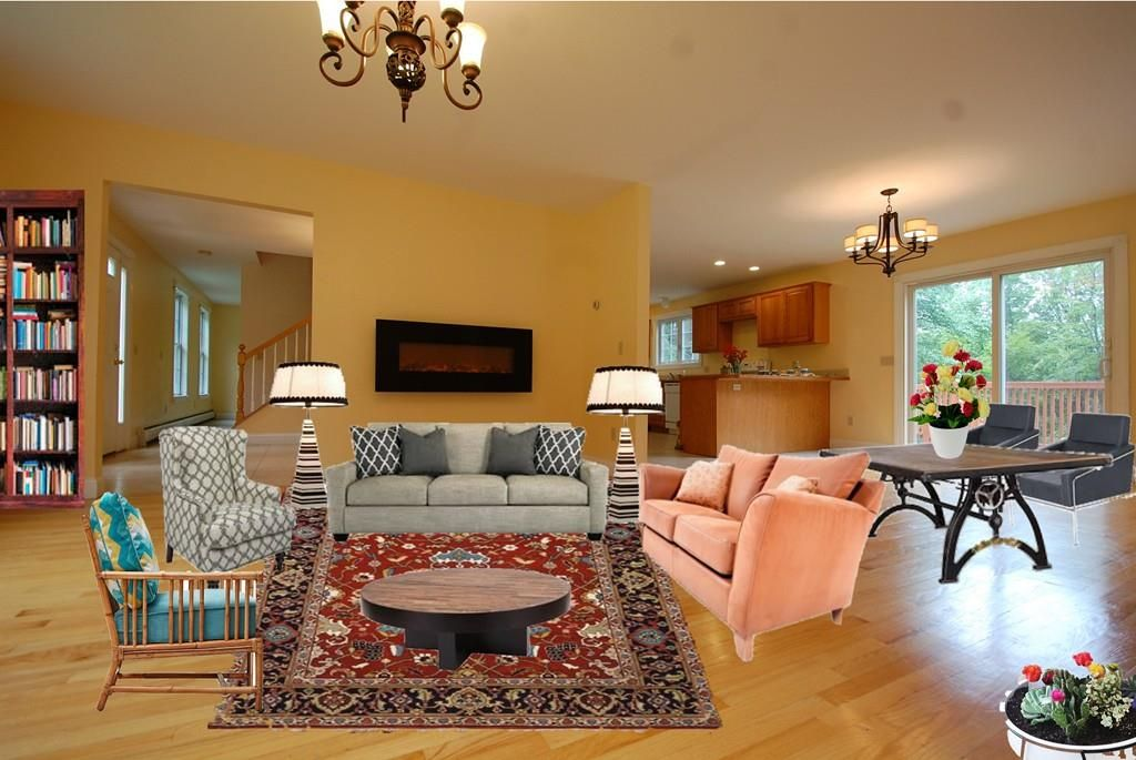 bad real estate photos: Living room virtual staging