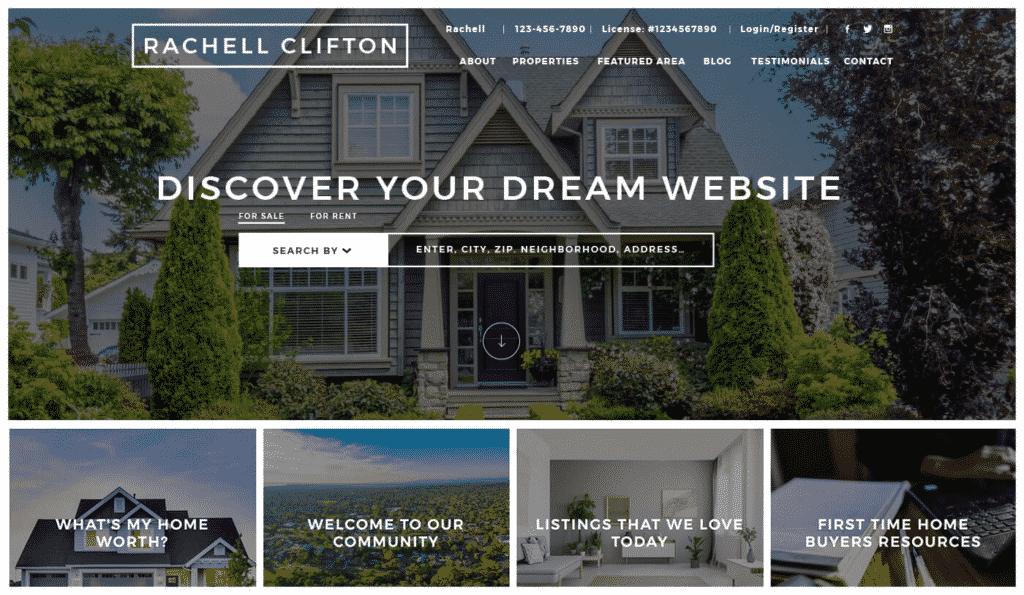 real estate website software