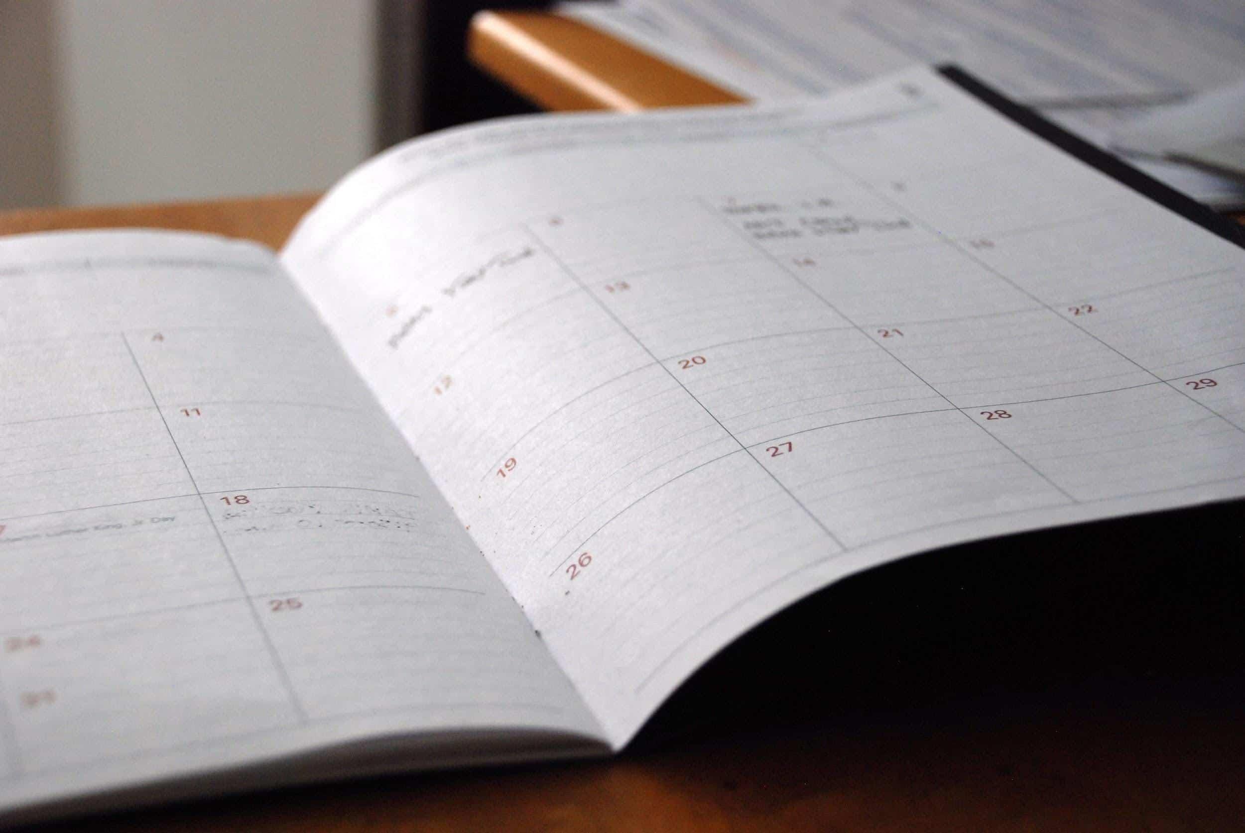Schedule notes