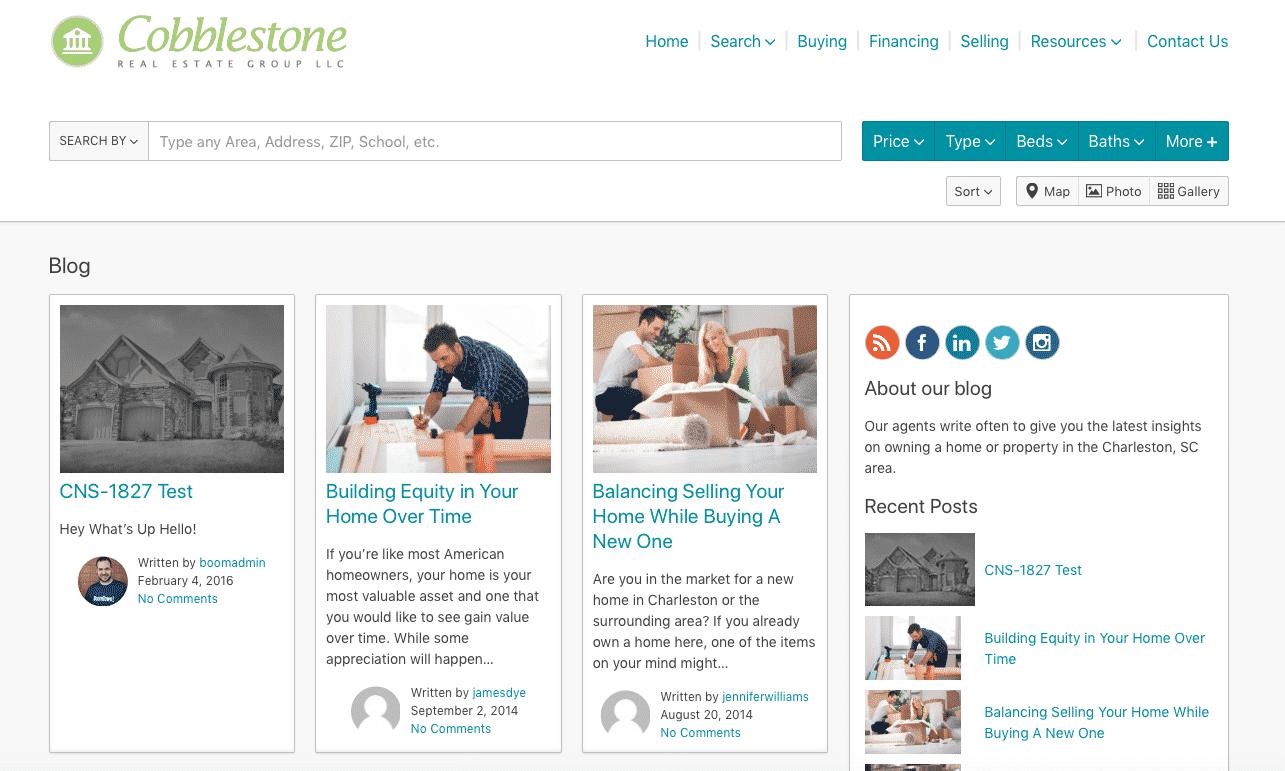 BoomTown as a Blogging Platform