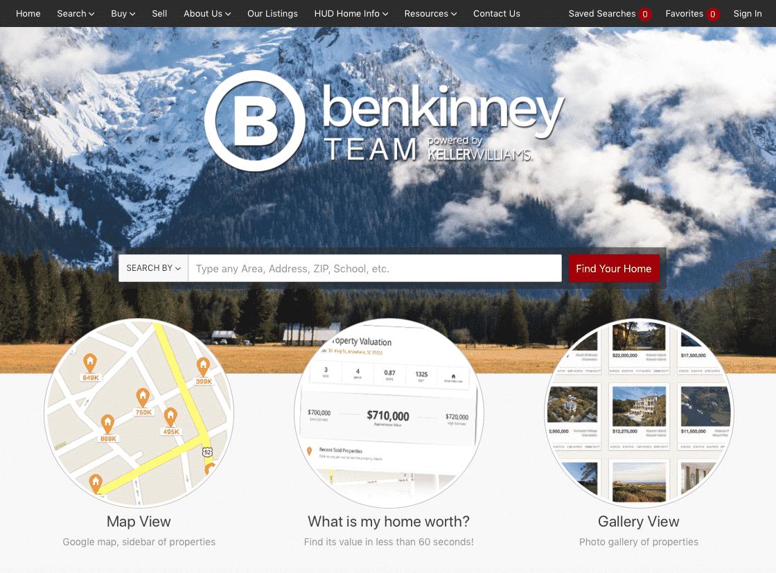 Ben Kinney Team interface