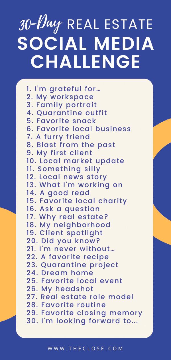 30 ideas for social media posts
