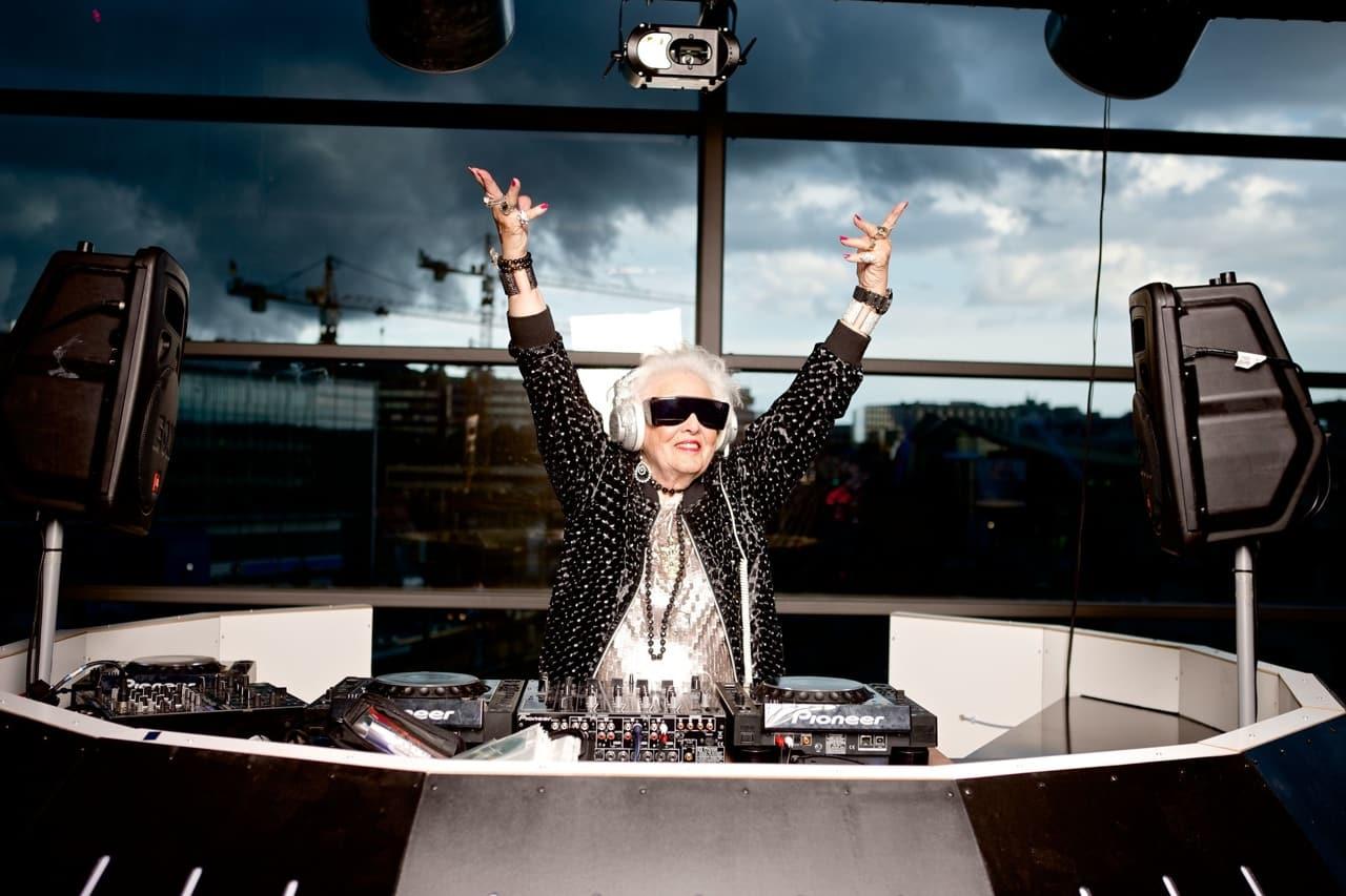 a elderly DJ woman