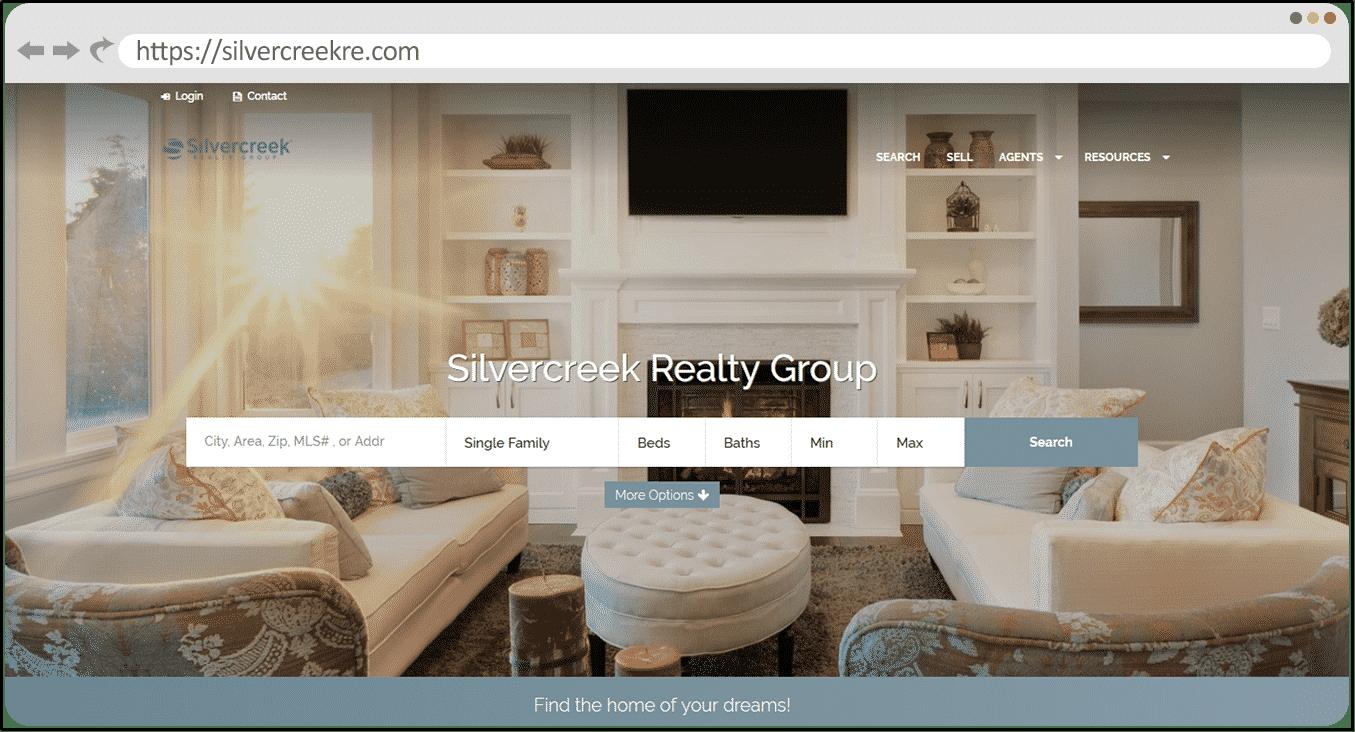 Silvercreek Realty - kvCORE Website Example