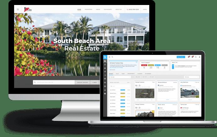 kvCORE IDX website and CRM platform