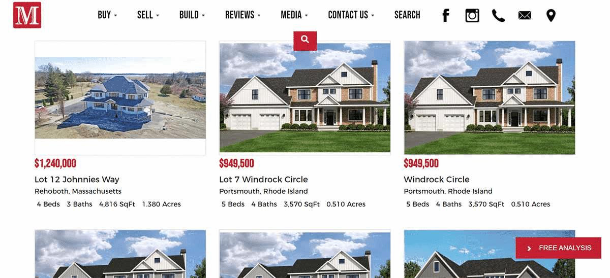 Brace Homes website