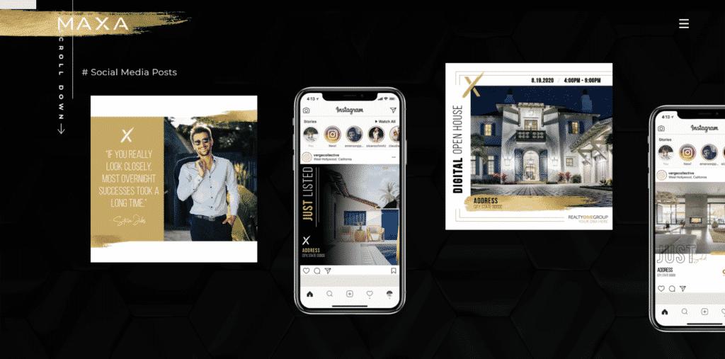 maxa designs templates
