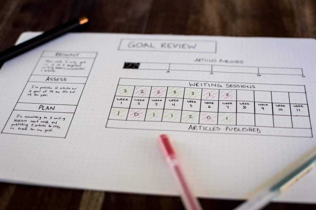 Goal Review Sheet
