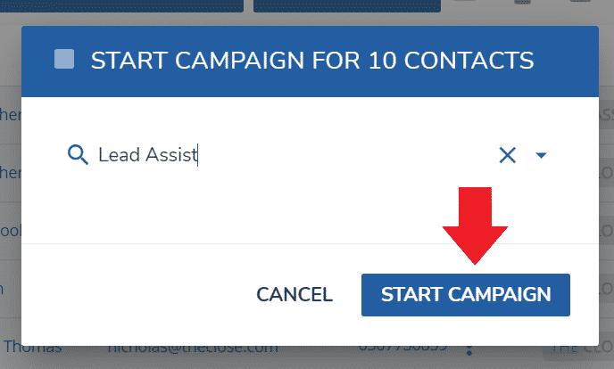 LionDesk Lead Assist - Start Campaign