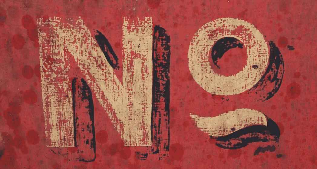 NO signage