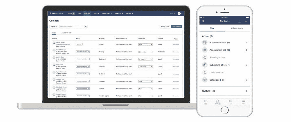 Zillow Flex - Laptop and Mobile interface