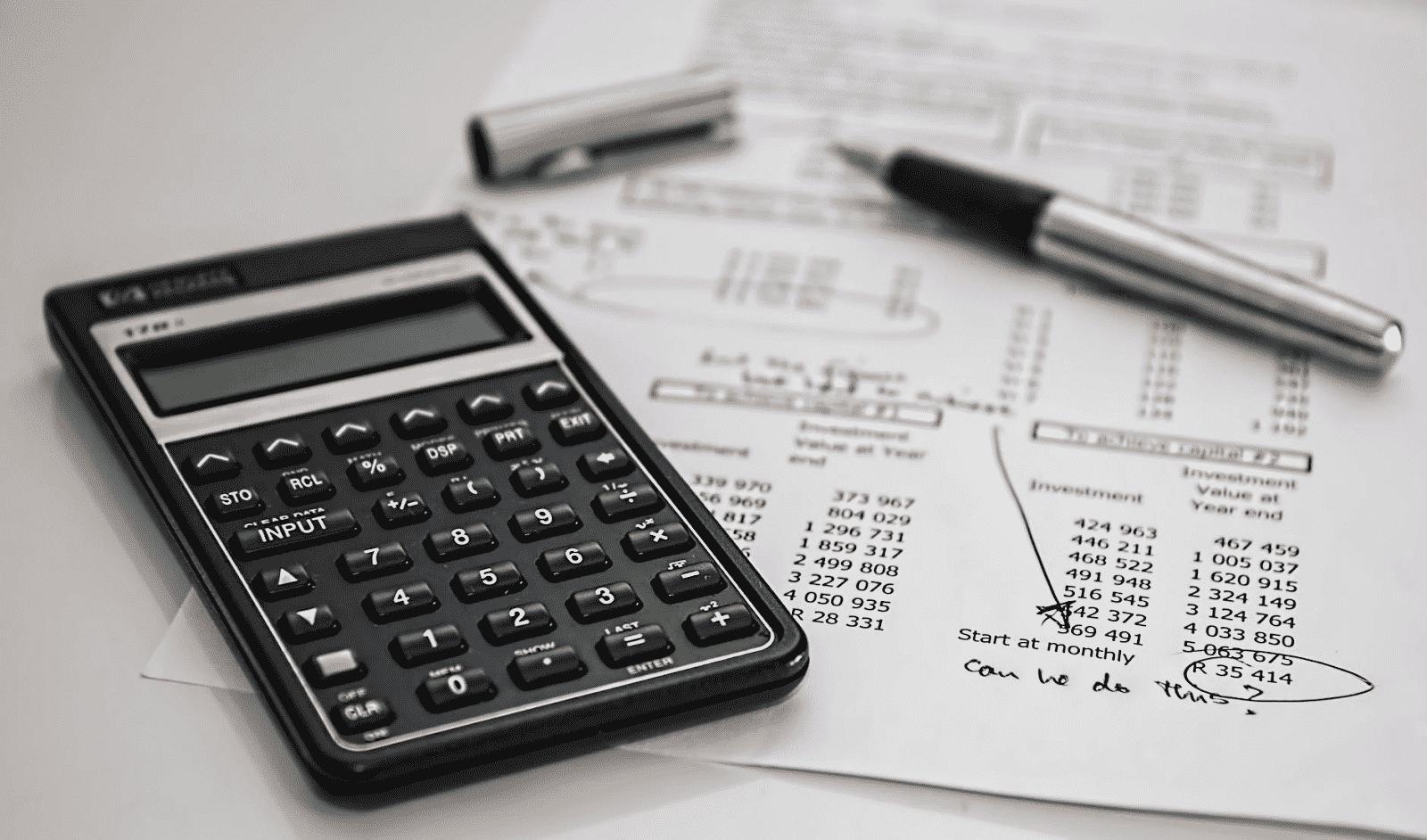 Calculator Pen and Data Sheet