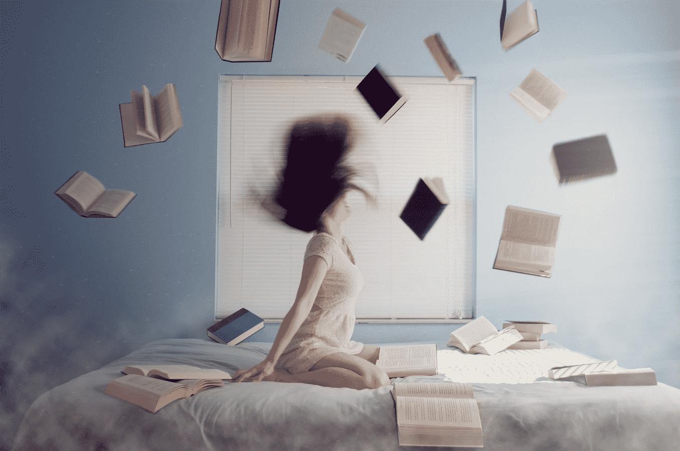 Woman Threw Books