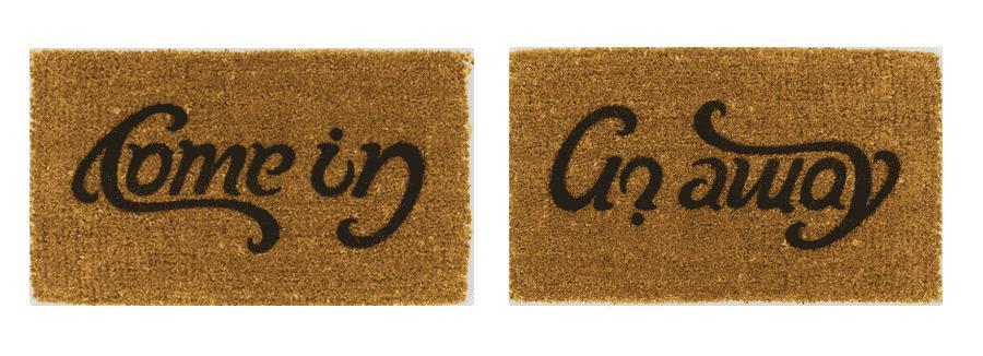 Com in - Go away doormat