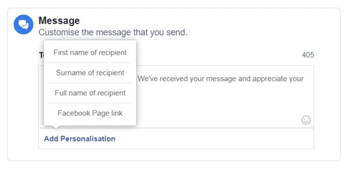 Facebook Page Customization