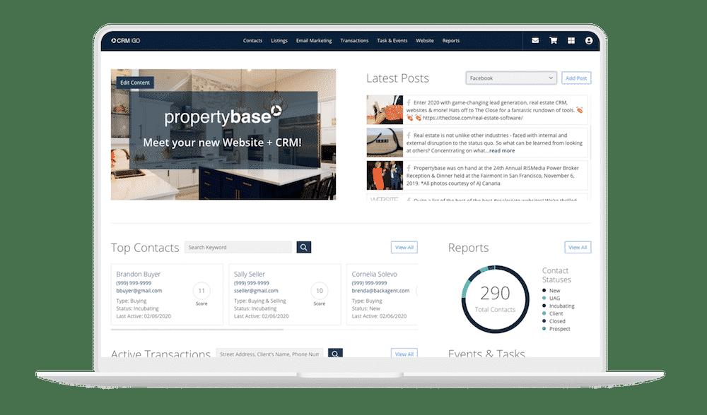 Propertybase GO Dashboard