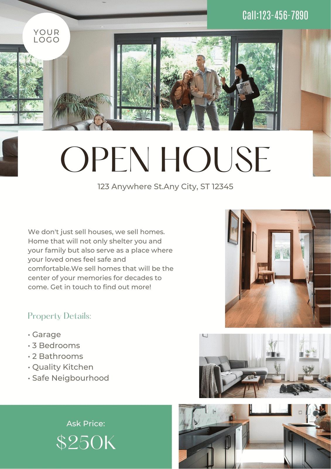 Art Deco Real Estate Open House Flyer