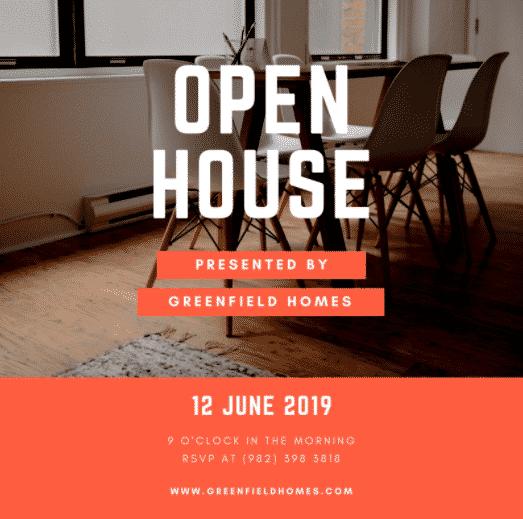 Bold, Orange Open House