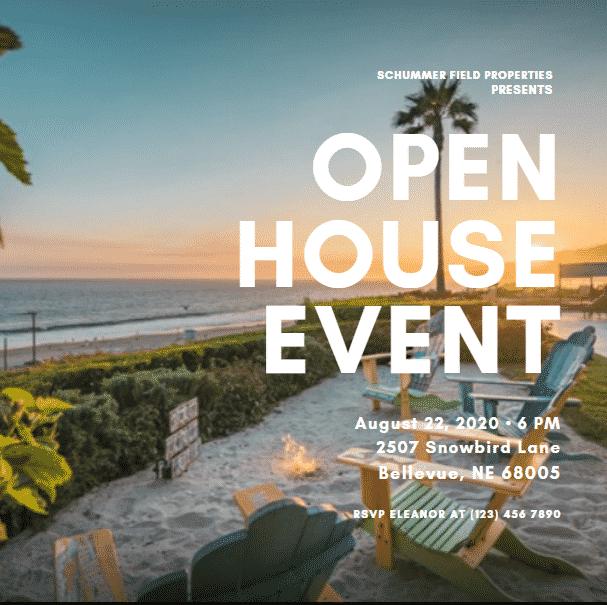 Bold Sunrise Open House Flyer
