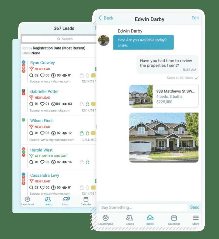 CINC real estate app interface