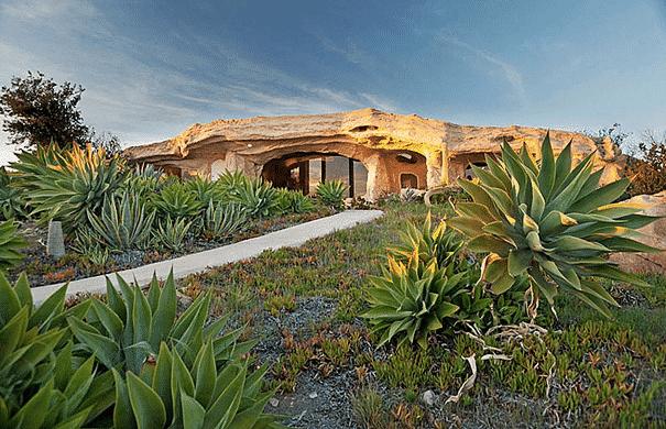 Dick Clark's Flinstone's Inspired House in Malibu