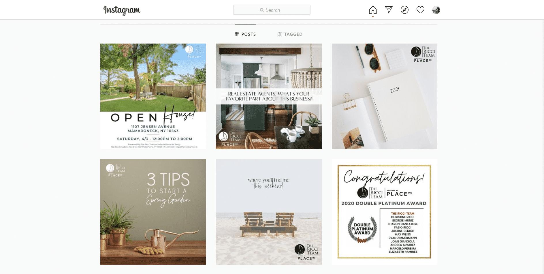 Open House Flyers for Instagram