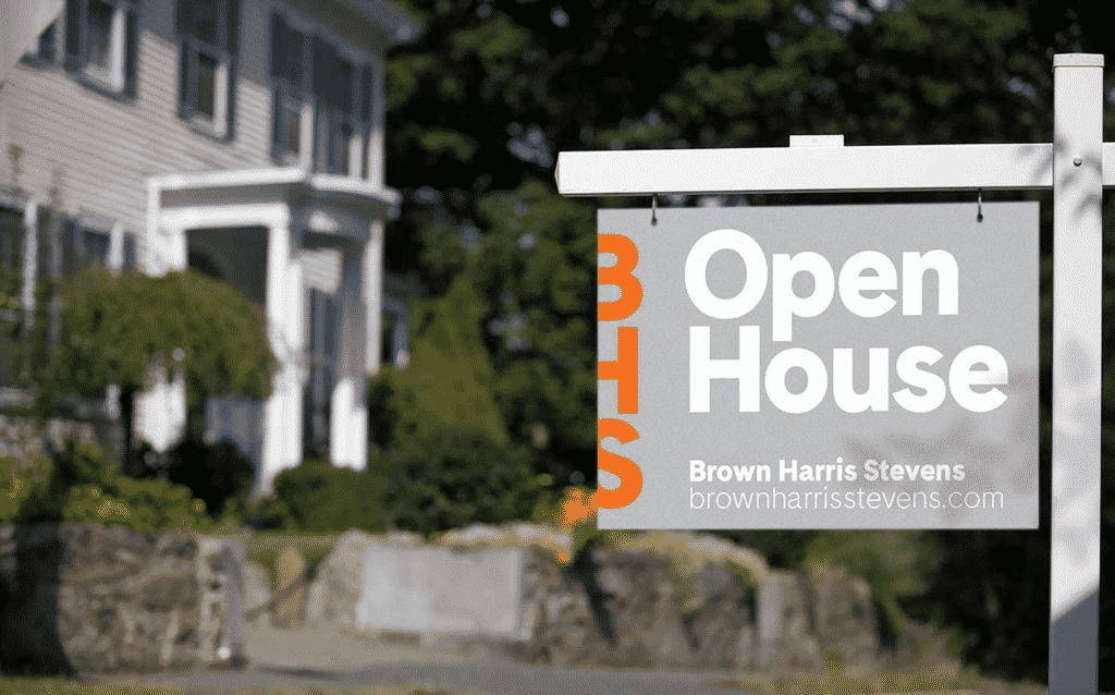 Open house sign by Brown Harris Stevens