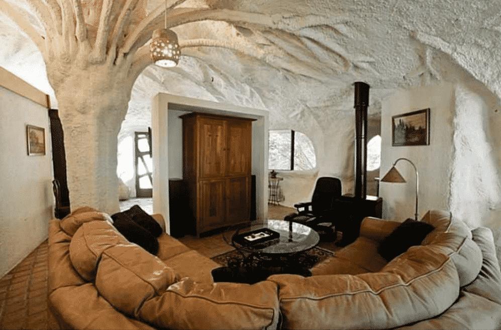Pittsford Mushroom House interior