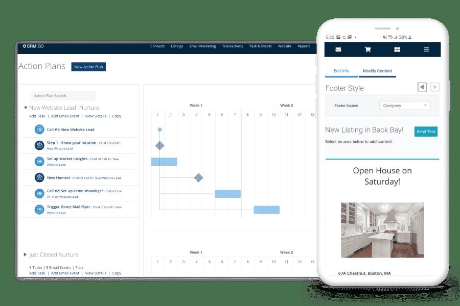 Propertybase real estate app interface