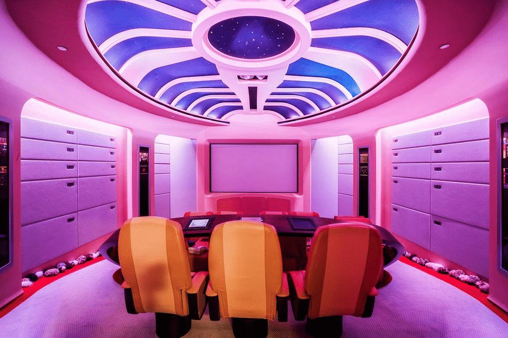 Spanish style mansion - command center