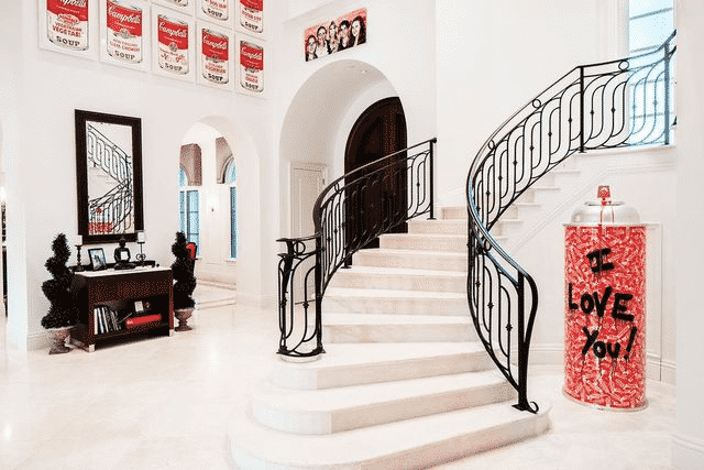 Spanish style mansion interior