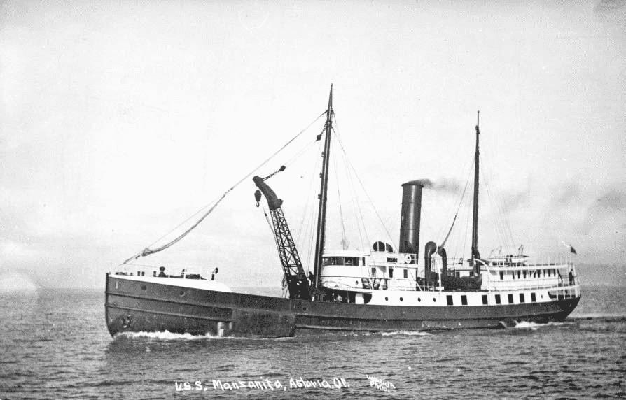 USS Manzanita, a turn-of-the-century Coast Guard ship