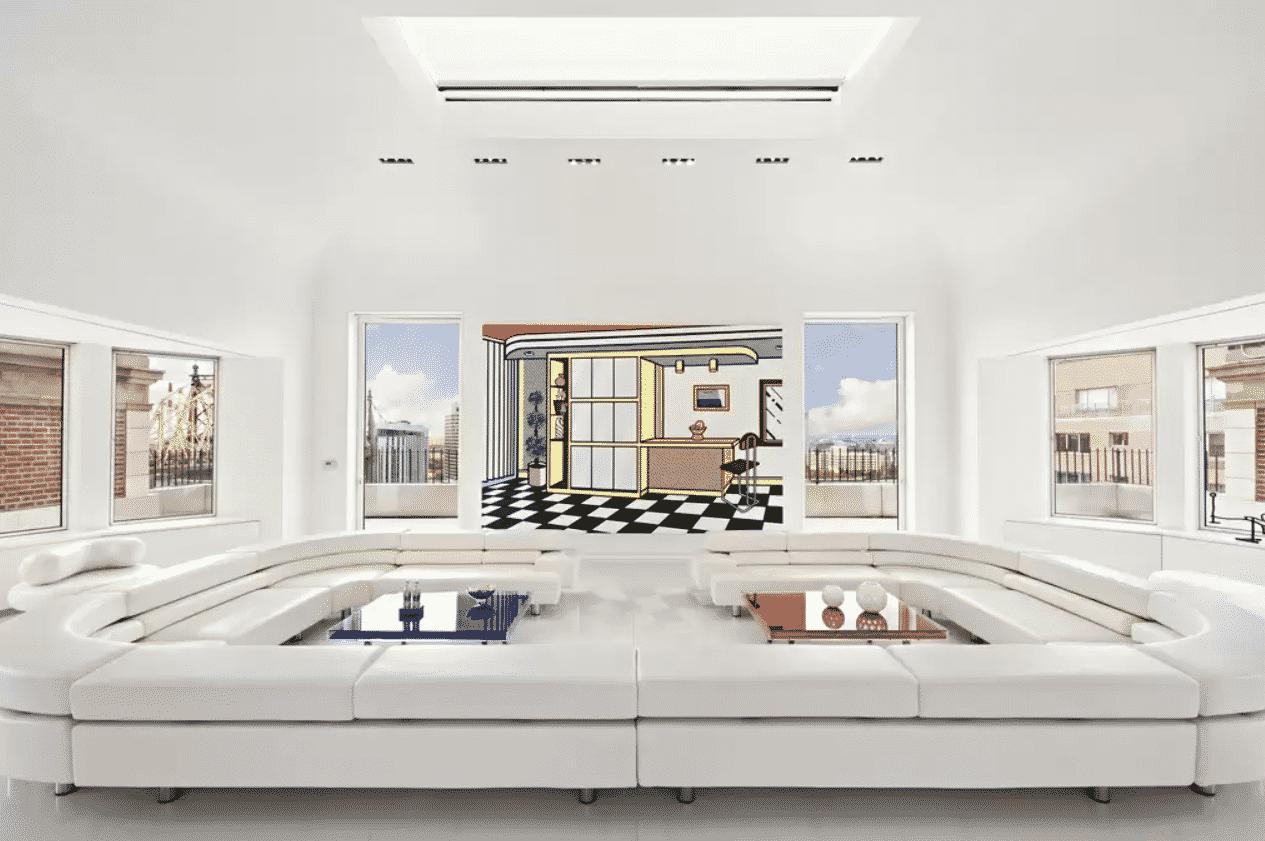 artistic Manhattan penthouse