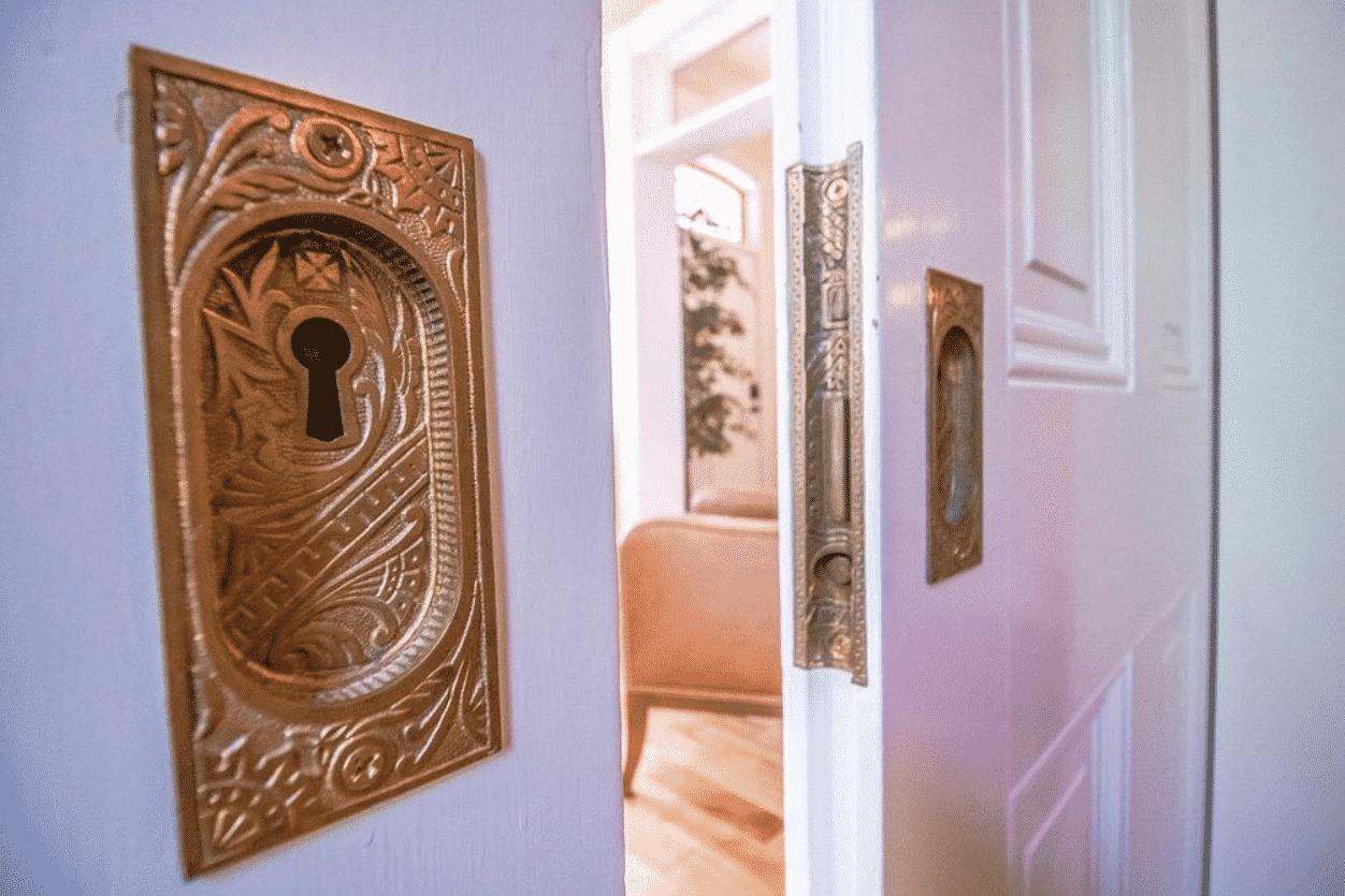 stately brick home antique door