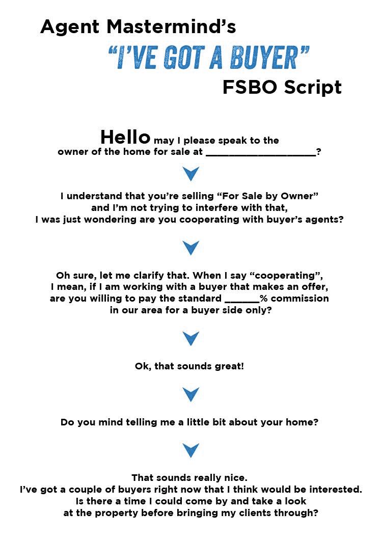 Agent Mastermind's FSBO Script
